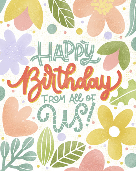 birthday card floral happy birthday
