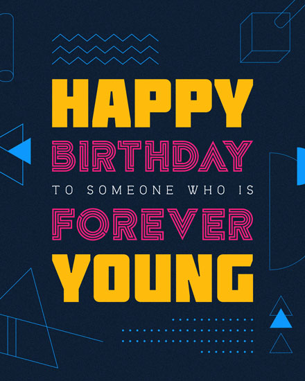 happy birthday card forever young