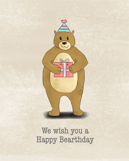 happy birthday card bearthday bear
