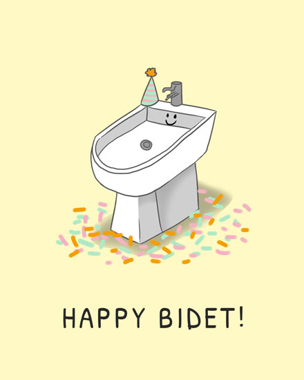 happy birthday card happy bidet
