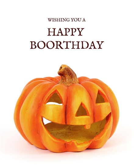 happy birthday card boorthday pumpkin