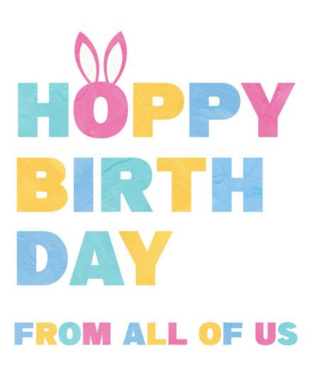 birthday card hoppy birthday