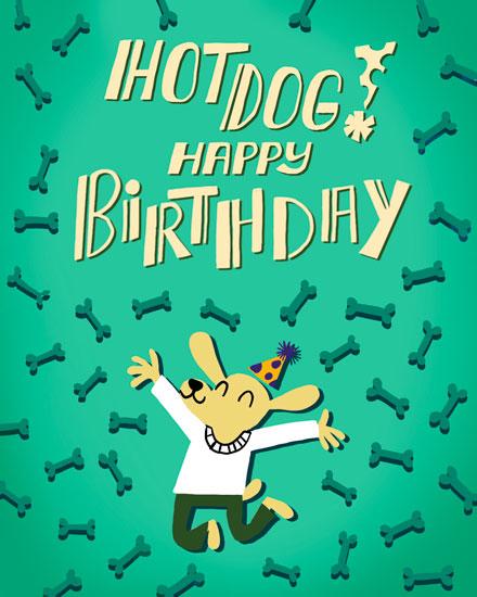 birthday card hot dog happy birthday