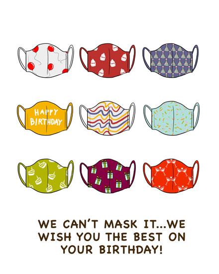 happy birthday card birthday masks