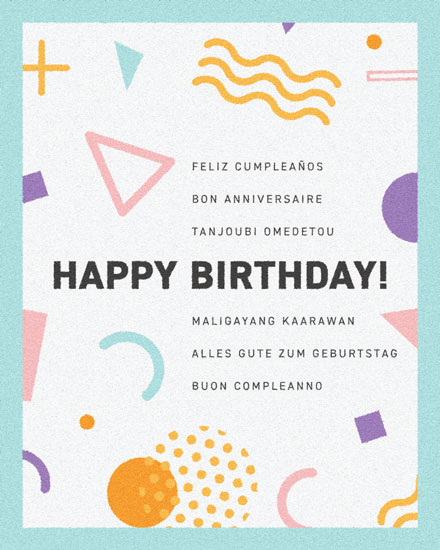 happy birthday card multilingual birthday greetings