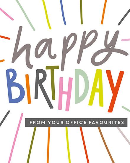 birthday card happy birthday from your office favourites