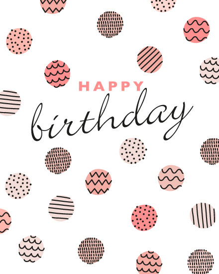 birthday card happy birthday dot pattern
