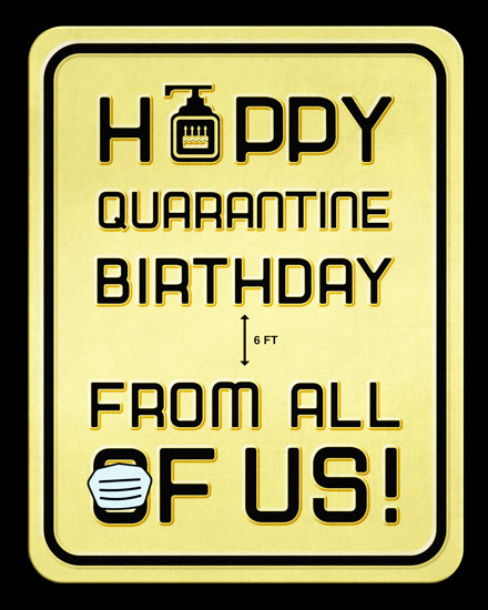 happy birthday card quarantine birthday