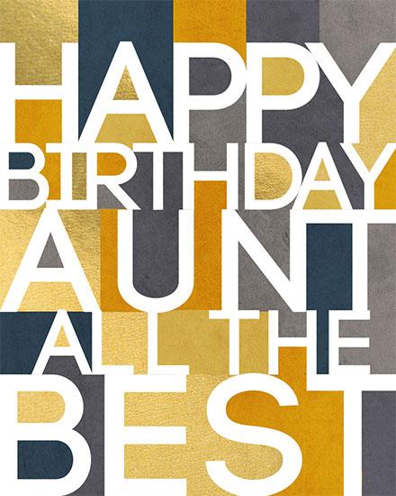 birthday card happy birthday aunt all the best