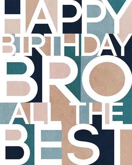 birthday card happy birthday bro all the best