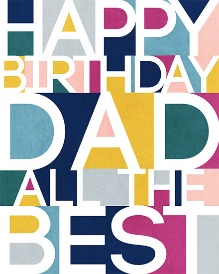 birthday card happy birthday dad all the best