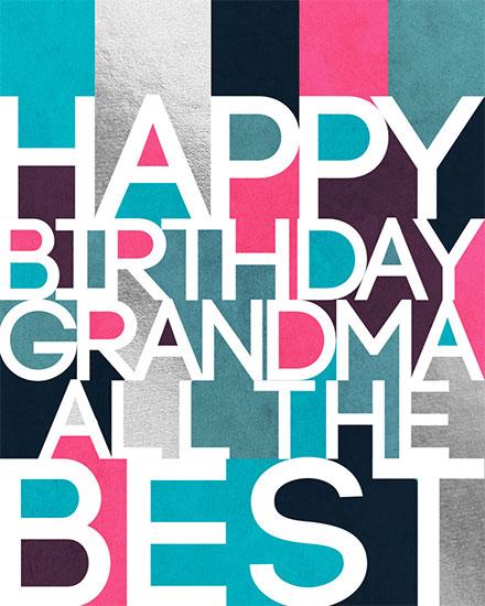 birthday card happy birthday grandma all the best
