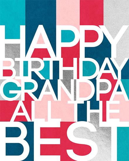 birthday card happy birthday grandpa all the best