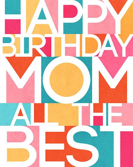 birthday card happy birthday mom all the best