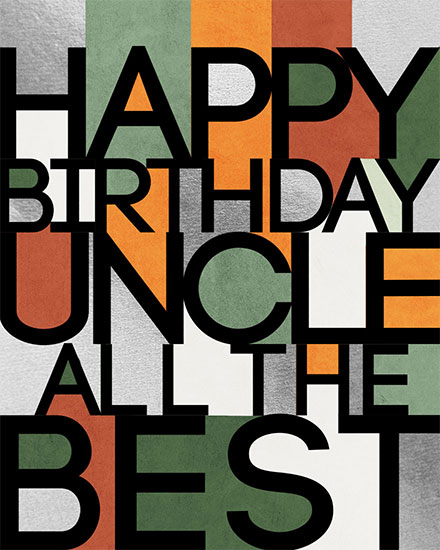 birthday card happy birthday uncle all the best