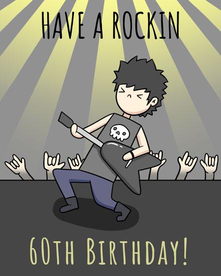 birthday card have a rockin 60th birthday
