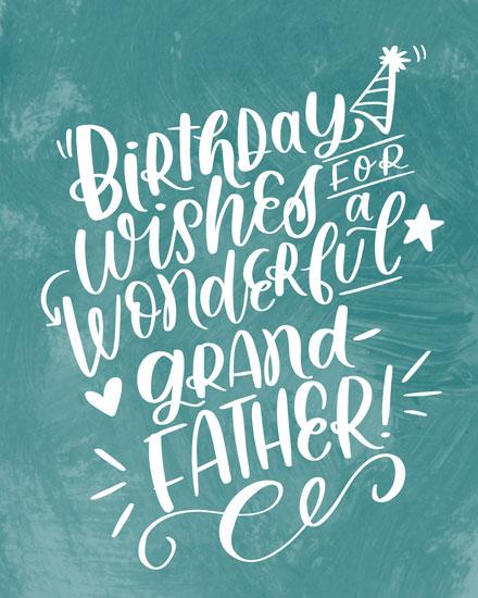 birthday card birthday wishes for a wonderful grandfather