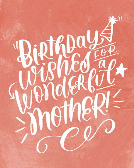 birthday card birthday wishes for a wonderful mother