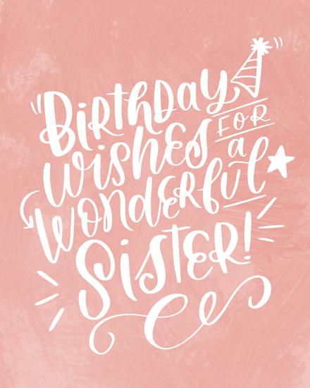birthday card birthday wishes for a wonderful sister