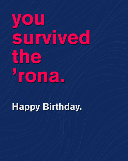 birthday card you survived the rona