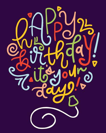 happy birthday card your birthday balloon