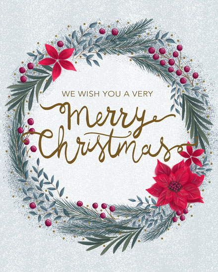 holiday card christmas wreath
