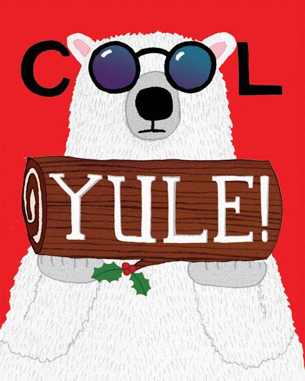 holiday card cool yule bear