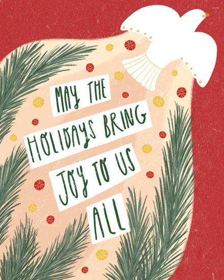holiday card dove holiday joy