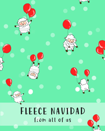holiday card fleece navidad sheep