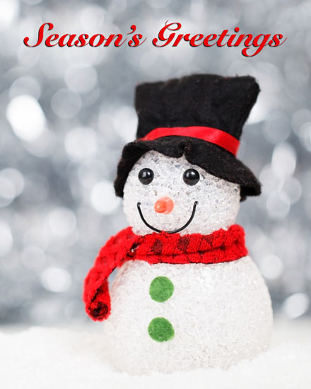 holiday cards frosty snowman