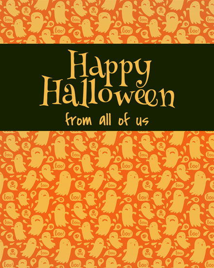 halloween card ghosts wallpaper