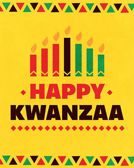 kwanzaa card happy kwanzaa candles
