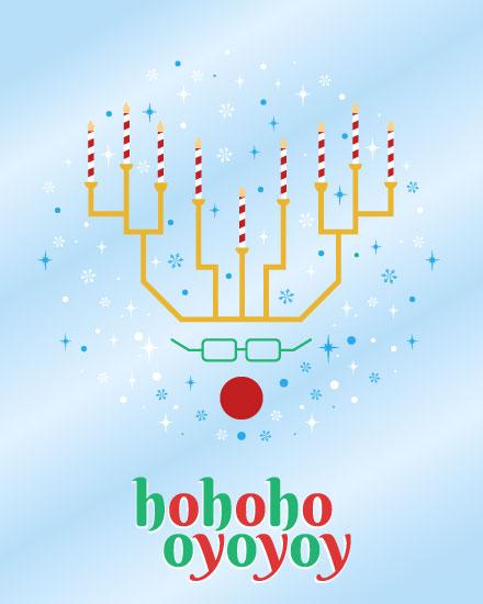 holiday card hohoho oyoyoy reindeer