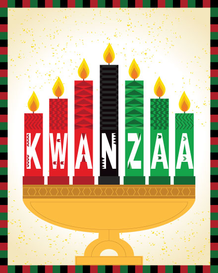 kwanzaa card candles