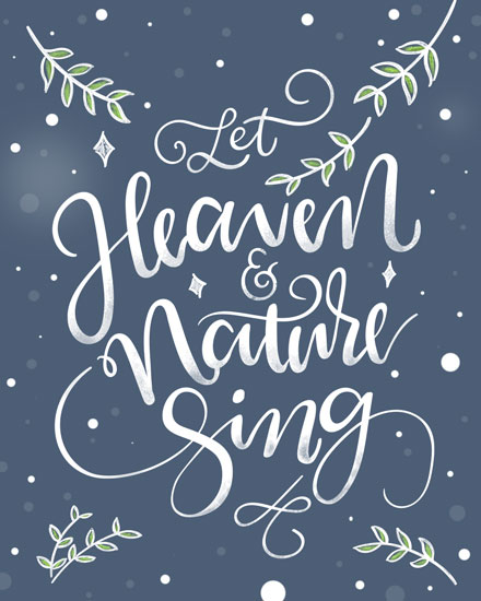 holiday card let heaven and nature sing