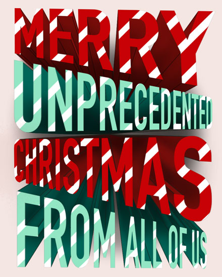 christmas card merry unprecedented christmas