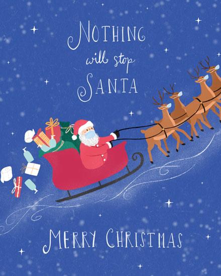 holiday card nothing will stop santa