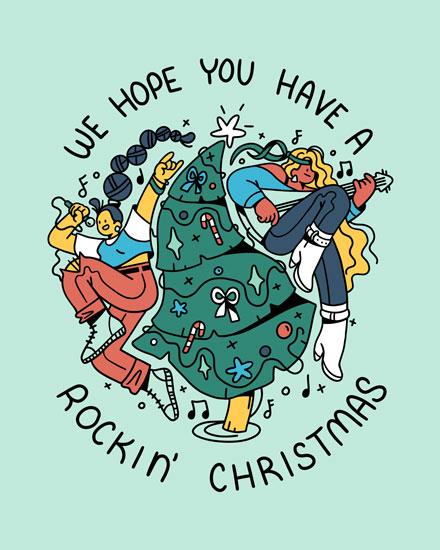 christmas card we hope you have a rockin christmas