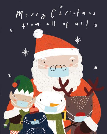 holiday card santas masked entourage