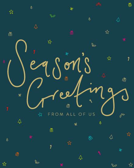 holiday card seasons greetings