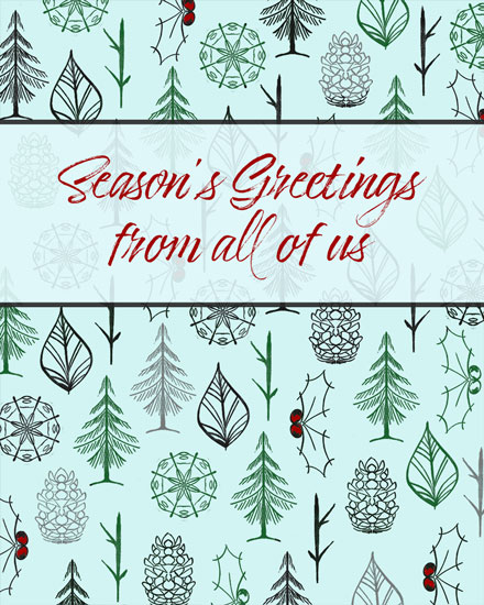 holiday card seasons greetings pattern