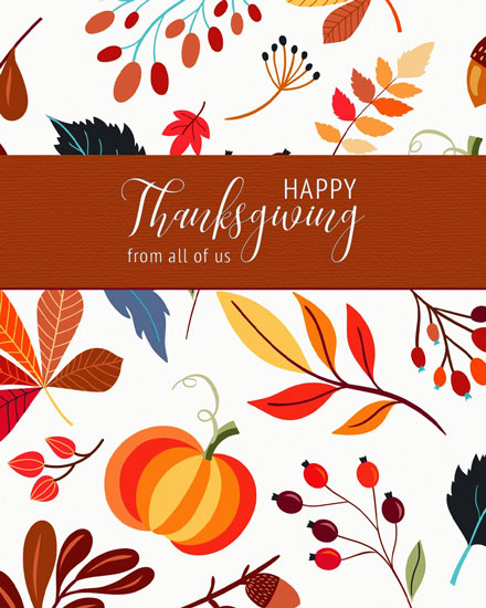 thanksgiving card fall foliage