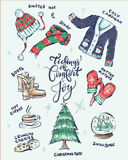 holiday card tidings of comfort and joy