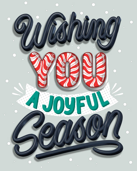 holiday card wishing you joyful season