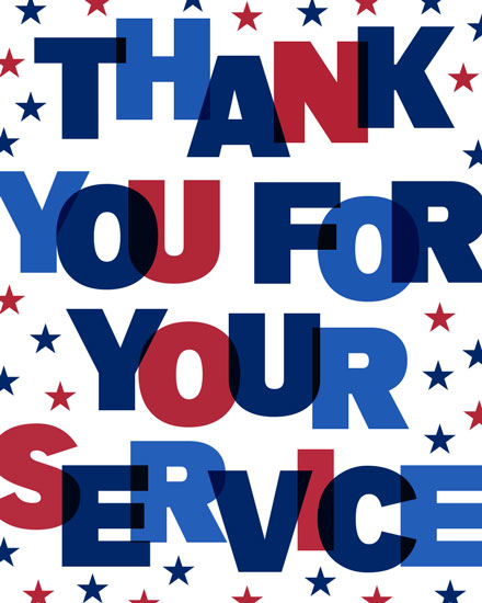 military appreciation card thank you for your service