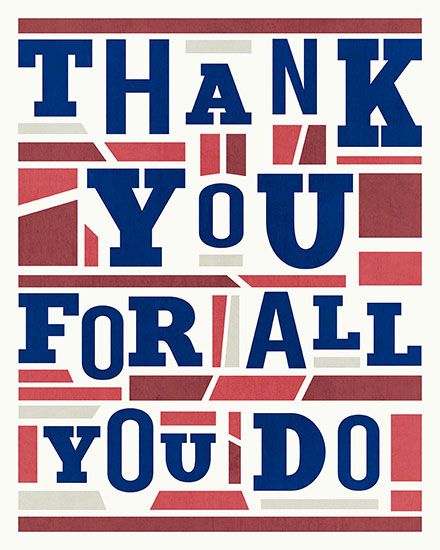 military appreciation card thank you for all you do