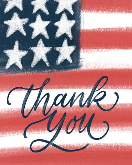 military appreciation card thank you american flag