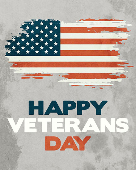 military appreciation card happy veterans day american flag