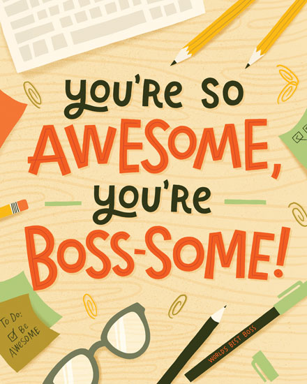 boss day card awesome boss some