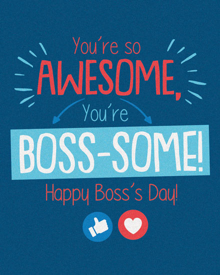 boss day card awesome boss-some